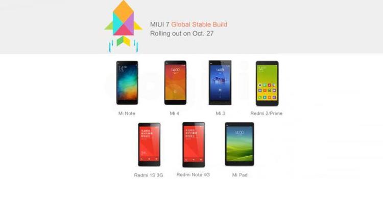Xiaomi, lista dei primi device che riceveranno la MIUI 7