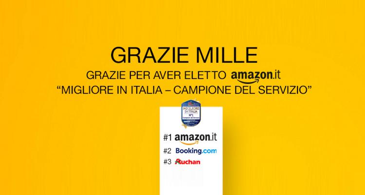 Amazon ringrazia: solo per oggi 10€ di sconto su una spesa di 50!