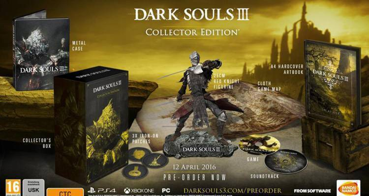 Dark Souls 3 Collector Edition data di uscita