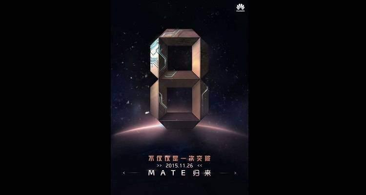 Huawei Mate 8, presentazione definitiva il 26 Novembre