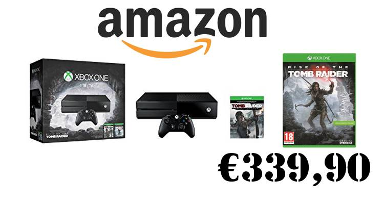 Xbox One in bundle con Rise of the Tomb Raider su Amazon