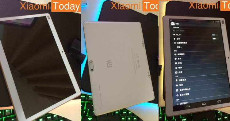 Xiaomi Mi Pad 2 in alcune foto leaked: il display sale a 10″?
