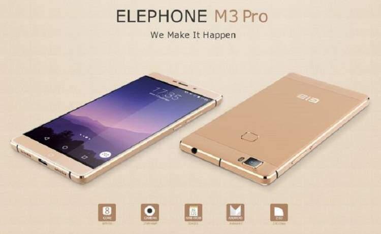 Elephone M3 Pro, nuovo smartphone Android di ultima generazione