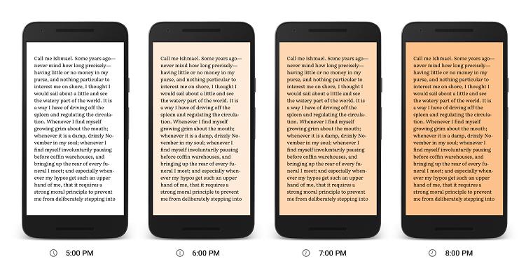Leggete di notte? Google Play Libri inaugura la modalità Night Light