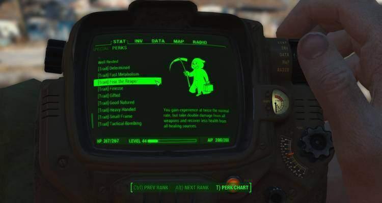 Fallout 4: una mod aggiunge Tratti e nuovi Talenti