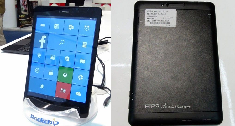 Pipo U8T, primo tablet Windows 10 Mobile senza SoC Qualcomm