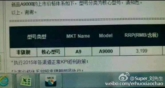 Samsung Galaxy A9, confermata per la Cina una base di 450€