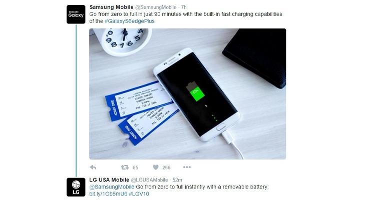 Samsung Galaxy S6 senza batteria removibile, e LG ci scherza sopra