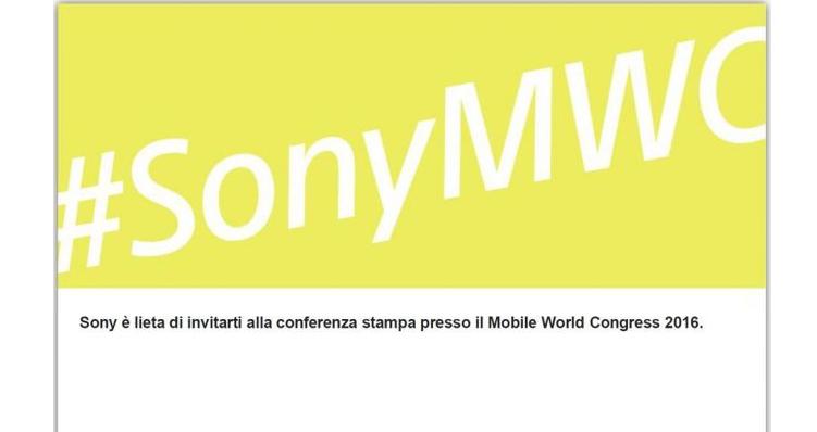 Sony fissa la conferenza stampa in vista del MWC 2016