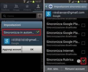 Come salvare e trasferire i contatti della rubrica android - Rubrica android colori diversi ...