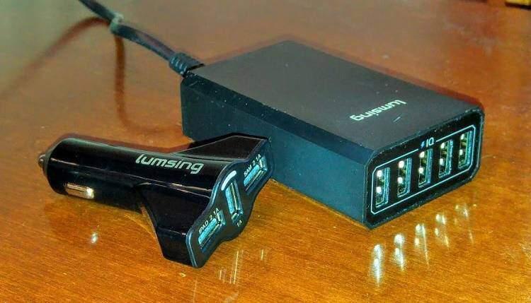 Recensione caricabatterie da auto e da tavolo Lumsing!