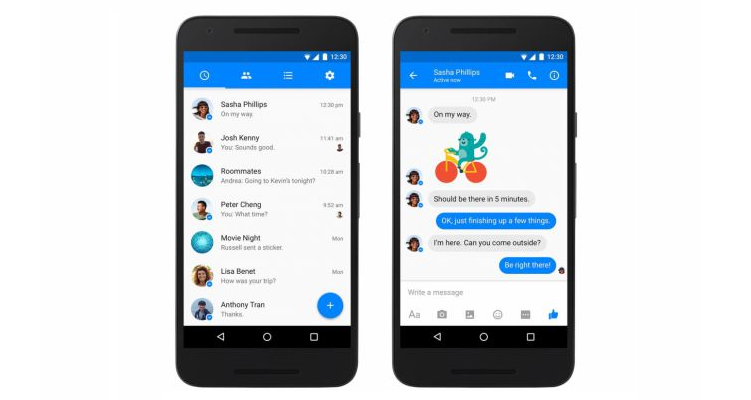 Facebook Messenger, il Material Design arriva su Android