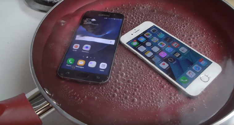 Samsung Galaxy S7 vs iPhone 6S nei test di resistenza: chi la spunta?