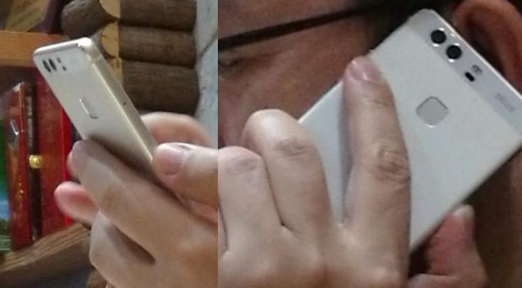 Huawei P9 immortalato tra le mani del presidente