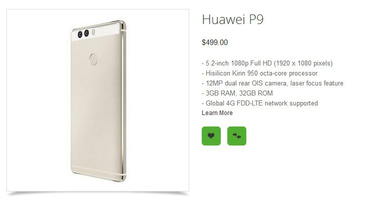 Huawei P9, P9 Lite e P9 Max: prezzi e specifiche in anteprima