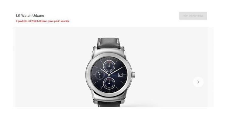 LG Watch Urbane scompare dal Google Store: spazio alla 2nd Edition