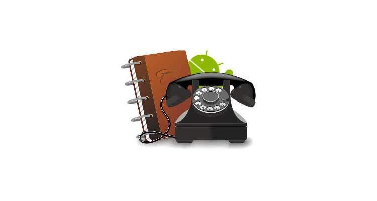 Come salvare contatti e rubrica android - Rubrica android colori diversi ...