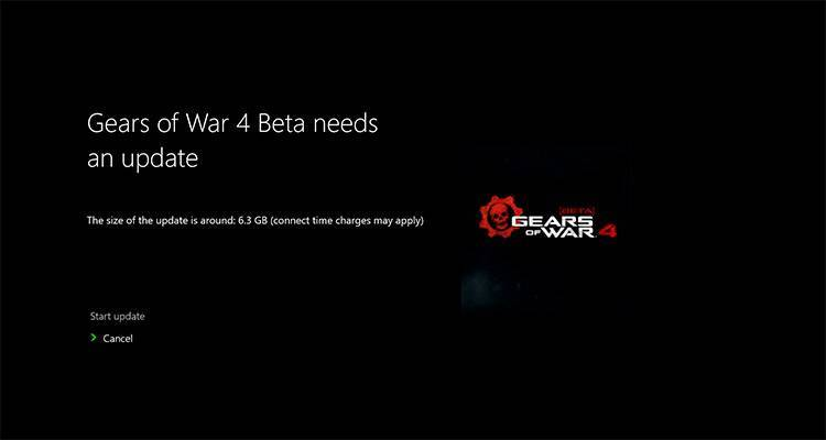 Gears of War 4 beta patch