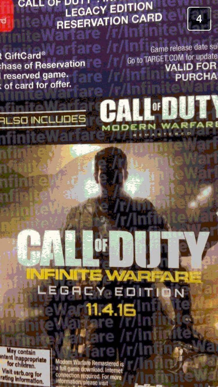call of duty infinite warfare card modern