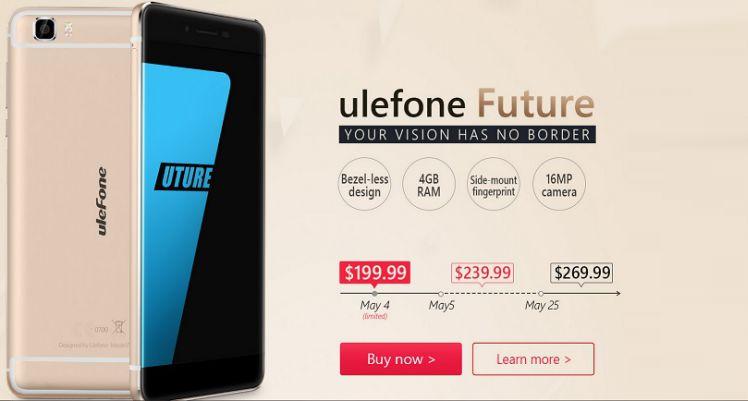Ulefone Future: preordini al via dal 4 maggio a 199$