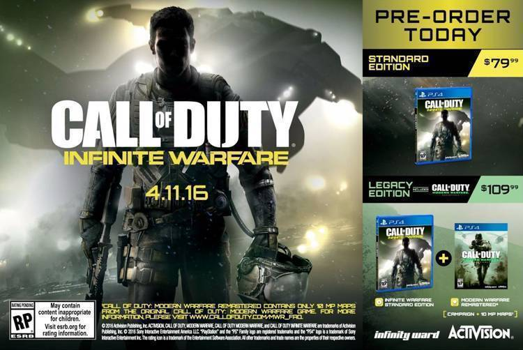 call of duty infinite warfare uscita