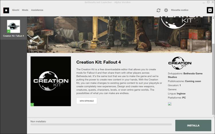 creation kit bethesda fallout 4