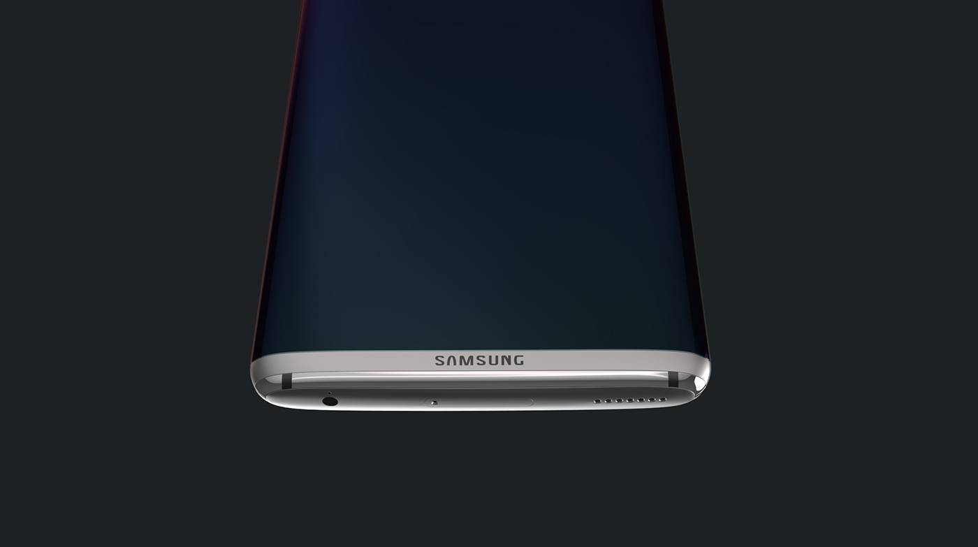 samsung galaxy s8 appare in un improbabile concept. Black Bedroom Furniture Sets. Home Design Ideas