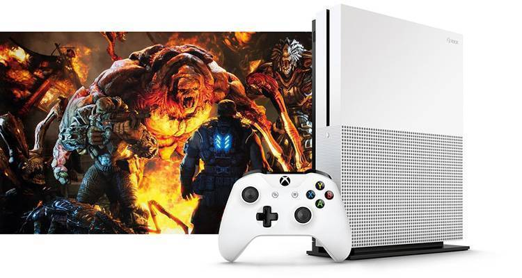 Xbox One Slim gears of war 4 play anywhere