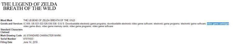 Nintendo NX rumor cartucce