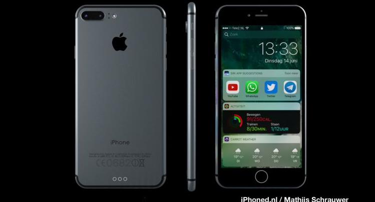 iPhone 7 con iOS 10 in un nuovo mockup: sarà proprio così?