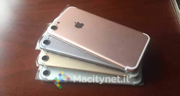 iPhone 7, nuova immagine in diverse colorazioni: niente Space Black