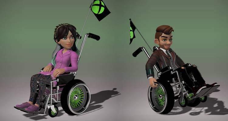 Microsoft aggiunge le sedie a rotelle per gli avatar Xbox