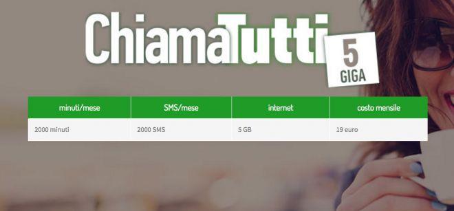 CoopVoce: con ChiamaTutti 2000 minuti e sms, e 5GB a 19€ al mese!