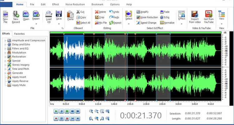 I migliori programmi per modificare file audio for Free programmi