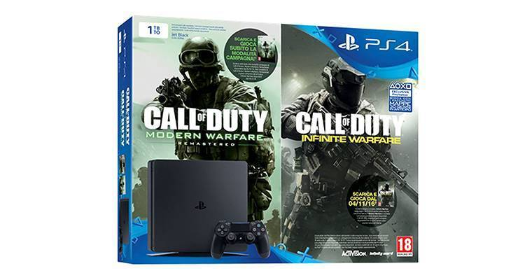 PlayStation 4 (PS4): bundle in offerta con Call of Duty Modern Warfare Remastered
