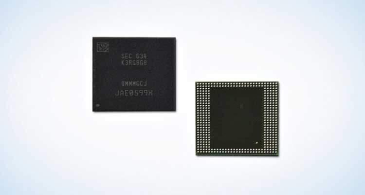 Samsung produce la prima DRAM da 8GB LPDDR4 per dispositivi mobili