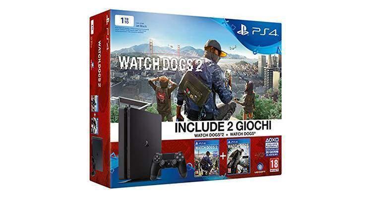 PS4 Slim in bundle con Watch Dogs e Watch Dogs 2 in offerta per il Cyber Monday!