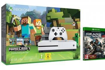 Xbox One S gears of war 4 minecraft