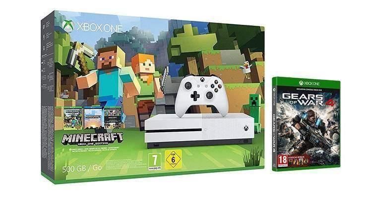 Xbox One S in bundle con Minecraft e Gears of War 4 in offerta per il Cyber Monday!
