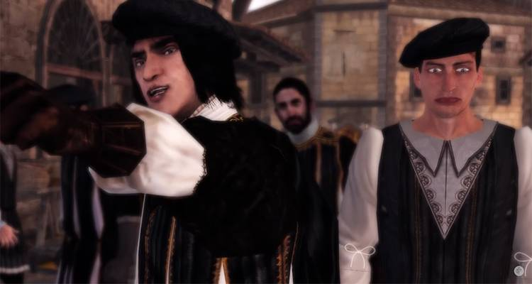 Assassin's Creed The Ezio Collection dice addio allo strano volto nella folla