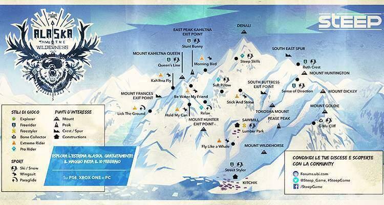 Steep. Ubisoft annuncia la data di arrivo dell'Alaska