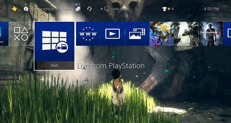 PS4 update 4.50 sfondi