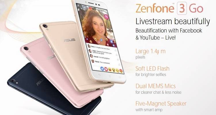 Asus Zenfone 3 Go: smartphone Android economico atteso per il MWC 2017