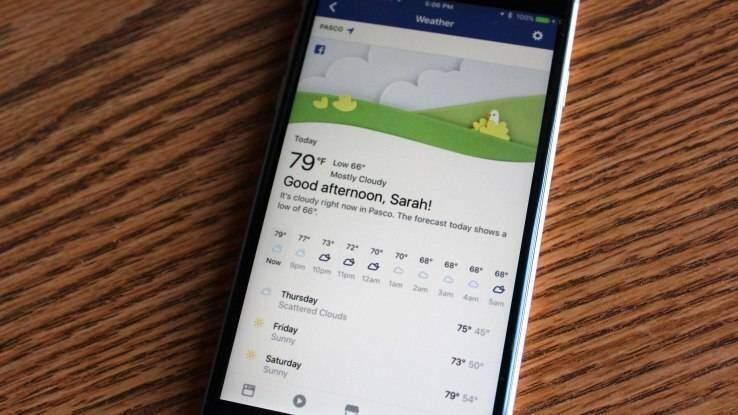Le previsioni del tempo sbarcano su Facebook: il meteo arriva in bacheca!