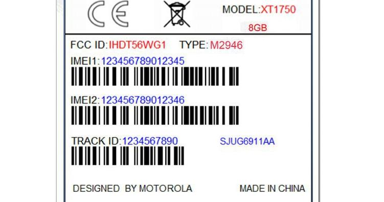 Motorola Moto XT1750 certificato dalla FCC: storage da 8GB