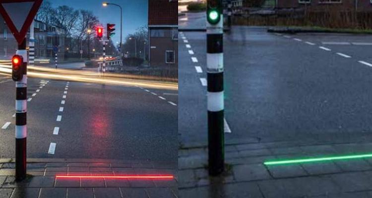 Olanda, semafori a terra per i dipendenti da smartphone