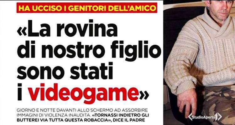 Studio Aperto, Oggi, Andreoli e polizia contro i videogiochi per l'omicidio di Ferrara