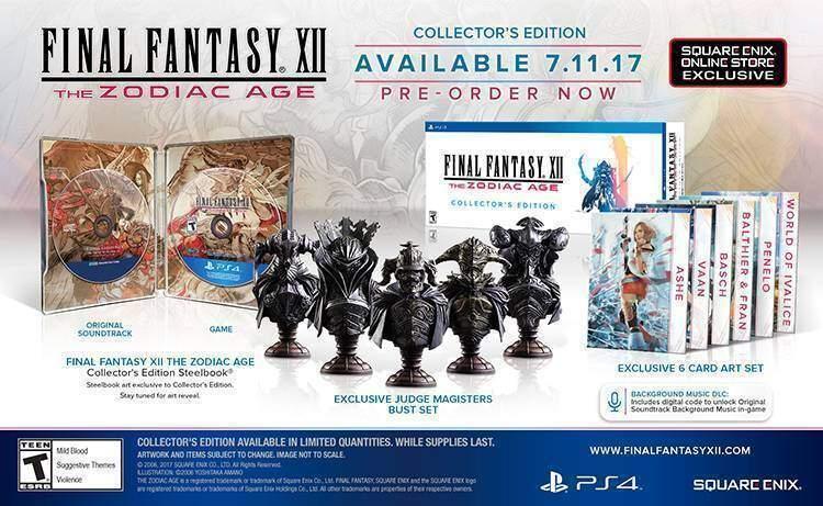 Final Fantasy 12 Zodiac Age Collector's Edition
