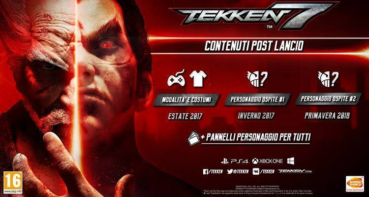 Tekken 7: tre DLC in arrivo a partire dall'estate