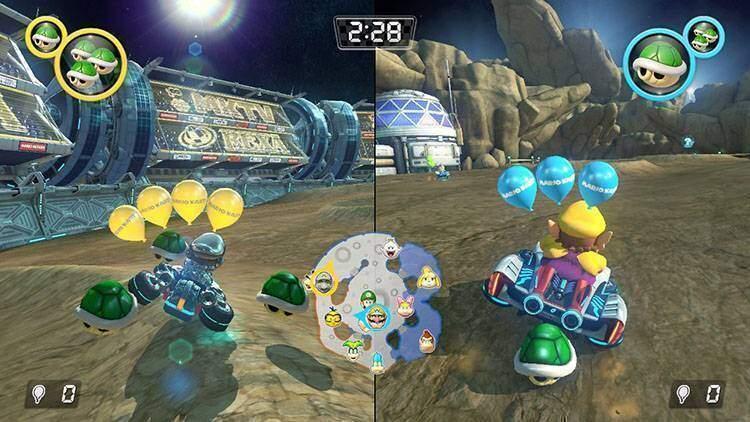 Base Lunare Mario Kart 8 Deluxe recensione Nintendo Switch